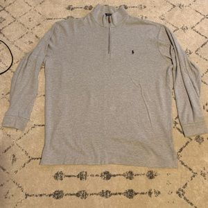 Gray 3/4 zip up Sweater